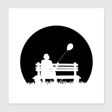 Weather Park Bench Loneliness - Poster 20x20 cm