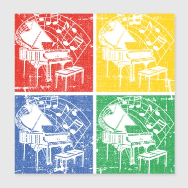 Piano pop art - Poster 20 x 20 cm