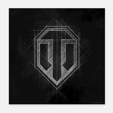 Officialbrands World of Tanks WoT logo - Poster 20x20 cm
