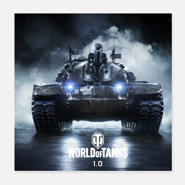 Online World of Tanks WoT M48A5 PATTON - Poster 20x20 cm