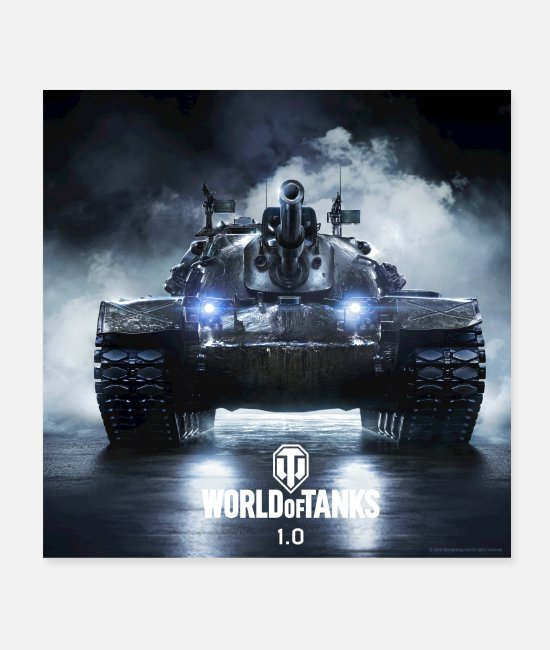 Pc Plakaty - World of Tanks WoT M48A5 PATTON - Plakaty biały
