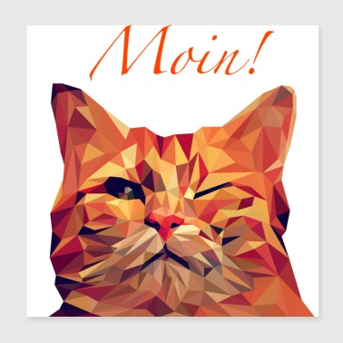 cool cat - Poster 20x20 cm