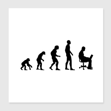 Office Evolution - Poster 20x20 cm