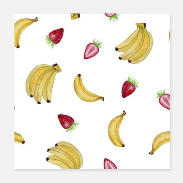 Banana Banana - strawberry - Poster 20x20 cm