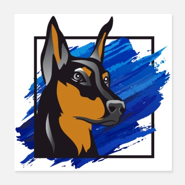 Dobermann Doberman - Poster
