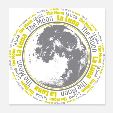 Cielo Notturno The Moon Poster - Poster 20x20 cm