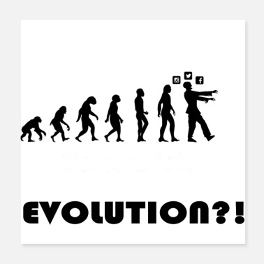 Evolution Evolution social media - Poster 20x20 cm