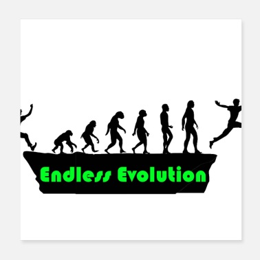 Evolution Endless Evolution - Poster 20x20 cm