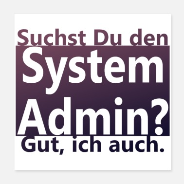 Computer System Admin - Poster