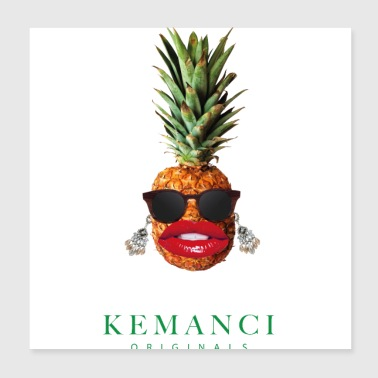ANANAS GLAMOUR - Poster 20 x 20 cm