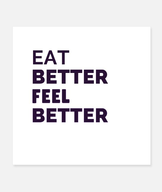 Bless You Posters - Health always starts with nutrition - Posters white