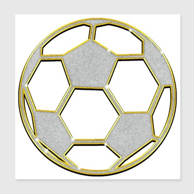 Football Jewelry Chain Pendant Bling Bling - Poster 20x20 cm
