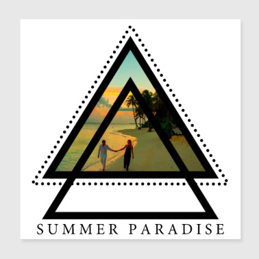 Summer Paradise - Poster 20x20 cm