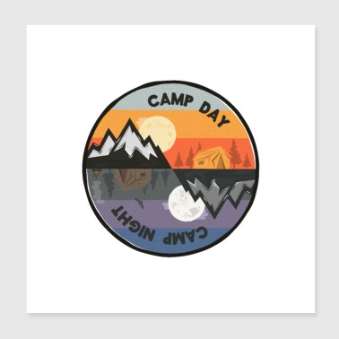 Camp Nacht Camp Tag - Poster 20x20 cm
