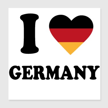 I love Germany - Poster 20x20 cm