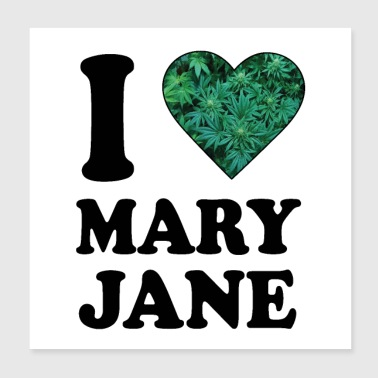 J'aime Mary Jane - Poster 20 x 20 cm