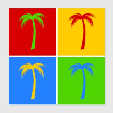 Palm pop art - Poster 20x20 cm