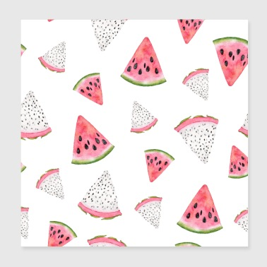 Dragon fruit watermelon - Poster 20x20 cm
