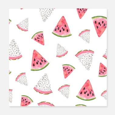 Pattern Dragon fruit watermelon - Poster