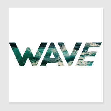 WAVE - Poster 20x20 cm