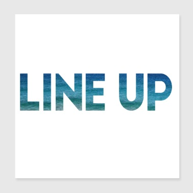 LINE UP - Poster 20 x 20 cm