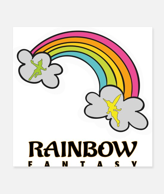 Rainbow Posters - Rainbow Fantasy - Posters white