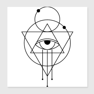 Black eye triangle circle etyten mythology - Poster 20x20 cm