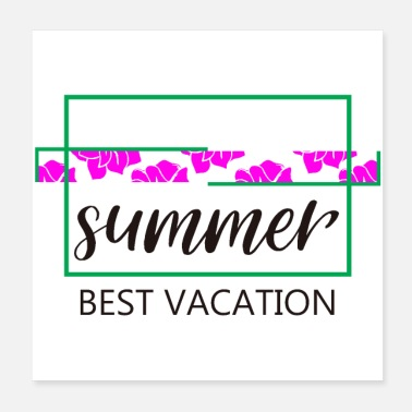 Vacation Summer best vacation - Poster 20x20 cm