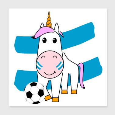 Play Boy Unicorn Violetta plays football for Argentina - Poster 20x20 cm