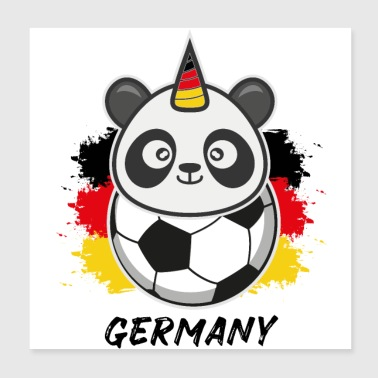 Pandicorn Football Alemania Alemania Fan Gift - Póster 20x20 cm
