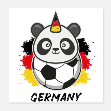 Fan Pandicorn Football Germania Germania Fan Gift - Poster 20x20 cm