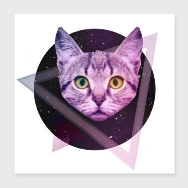 Space Katze - Poster 20x20 cm
