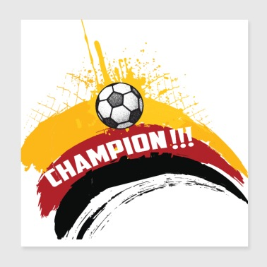 Germany Football Gift Fan World Cup - Poster 20x20 cm