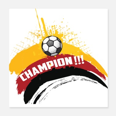 Patriot Germany Football Gift Fan World Cup - Poster 20x20 cm