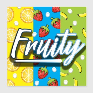 Fruity fruits summer mood - Poster 20x20 cm