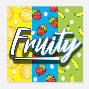 Mood Fruity fruits summer mood - Poster 20x20 cm