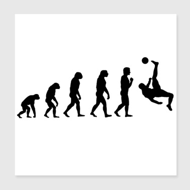 Idea regalo Evolution di calcio - Poster 20x20 cm