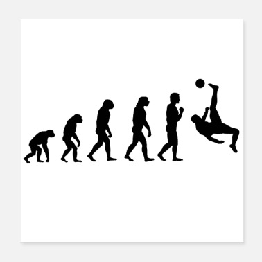 Evolution Football Evolution Gift Idea - Poster 20x20 cm