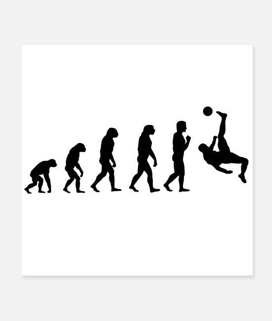 Fan Posters - Football Evolution Gift Idea - Posters white