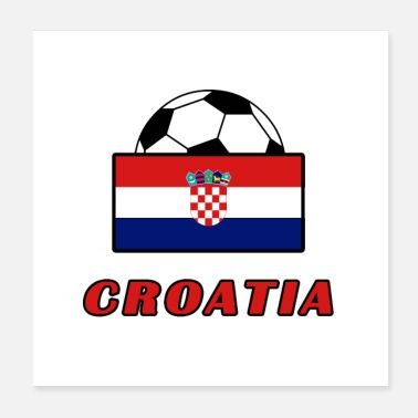 Football Team CROATIA TEAM design - Poster 20x20 cm