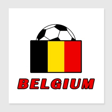 BELGIUM national team design - Poster 20x20 cm