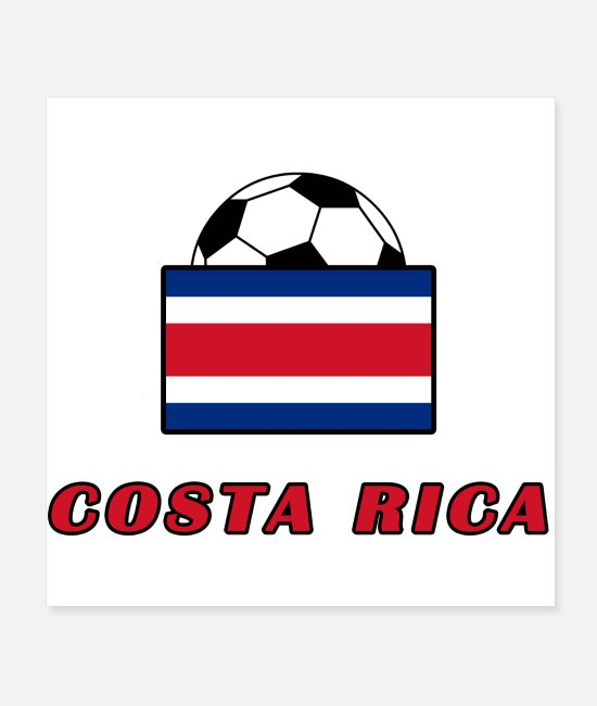 National Team Posters - COSTA RICA national team design - Posters white