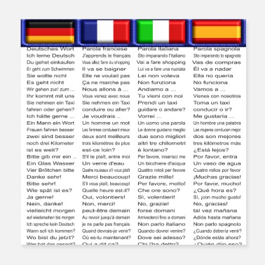 Sprache Poster Sprachen Edition 1 - De | Fr | It | Sp - Poster 20x20 cm