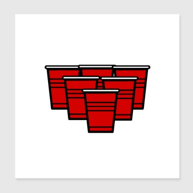 BeerPong Legend Bere drinking party w - Poster 20x20 cm