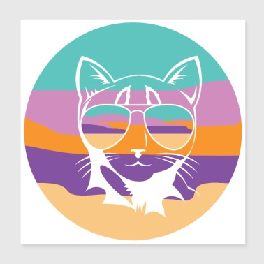 Cat tomcat kitten kitty pet gift meow - Poster 20x20 cm