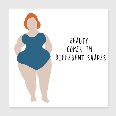 Bold Thick and Beautifull Woman - Poster 20x20 cm