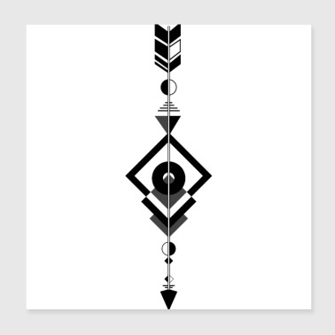 Pil indian symbol - Poster 20x20 cm