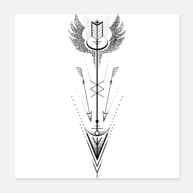 Arrow Arrow wings - Poster 20x20 cm