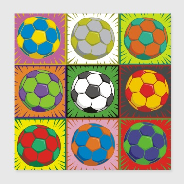 Soccer (Football) Pop Art - Poster 20x20 cm