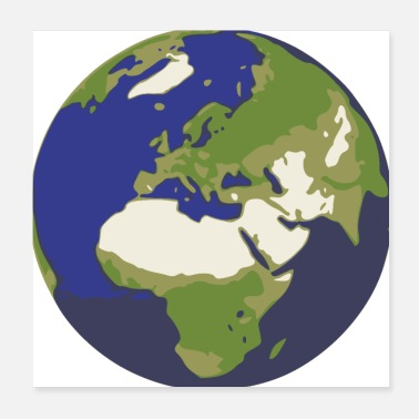 Planet Earth World earth globe - Poster 20x20 cm